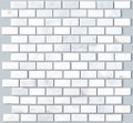 Brick pattern White pearl marble mosaic
