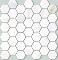 Hexagone White pearl marble mosaic