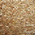 Shell mosaic Copper brick patern