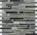 DaVinci glass tile handicraft II Linear series Black Sea