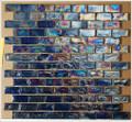 Kaleidoscope glass tile Purple Rain 1x2