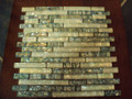 Equinox glass tile White - Abalone blend linear