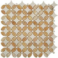 Nova Stone Flower series Honey Onyx & Thassos White