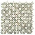 Nova Stone Flower series Ming Green  Thassos