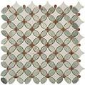 Nova Stone Flower series Ming Green & Thassos White