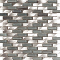Kermosaic Metallico Vetro Blend Lineal Silver