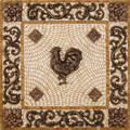 Rooster Mosaic Tile Backsplash Medallion 24 inches