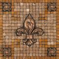 Bevano Fleur Mosaic Medallion 12 inches