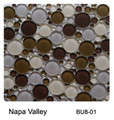 Raffi Bubbles Glass Tile Napa Valley