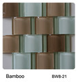 Raffi Jumbo Waves Glass Tile Bamboo BW8-21