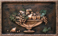 Small Fruits Bowl metal backsplash mural