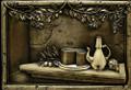Olives & Cheese metal backsplash mural