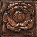 Metal decorative tile 6x6 Cabbage
