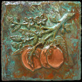 Metal decorative tile 6x6 Peach