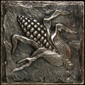 Metal decorative tile 6x6 Corn