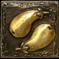 Metal decorative tile 4 x4 Eggplant