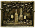 Vines & Bottles metal backsplash mural