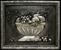 Fruit Bowl 3 metal backsplash mural