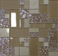Unicorn Glass Tile Swirl Tan