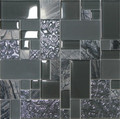 Unicorn Glass Tile Swirl Grey