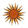 Brown Sun medallion mosaic pool inlay