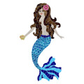 Mermaid Brunette mosaic pool inlay
