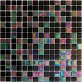 Hakatai Luster Series Black kimono blend glass tile