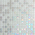 Hakatai Luster Series Silver Brocade blend glass tile