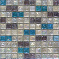 Seaside glass tile blend: White & Violet & Sea Blue