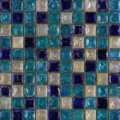 seaside glass tile blend white sea blue cobalt blue