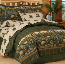 Blue Ridge Trading Rocky Mountain Elk 8 PC Comforter Set