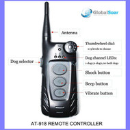 Aetertek 918B-1 600 Yard 9 Level 1 Dog Training Anti Bark & Waterproof Collar