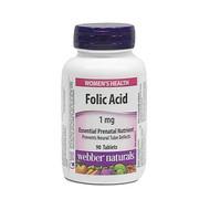 WEBBER NATURALS Folic Acid 1mg  90 Tablets(加拿大 WEBBER NATURALS 叶酸 1mg  90粒入)
