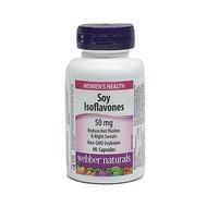 WEBBER NATURALS Soy Isoflavones  50mg  90 Capsules(加拿大 WEBBER NATURALS 大豆异黄酮  50mg 90粒入)