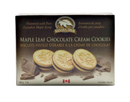 CANADA TRUE Maple Leaf  Chocolate Cream Cookies 200g(加拿大 CANADA TRUE 枫叶巧克力夾心饼干 200g)
