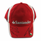 Fernando Alonso and Felipe Massa signed Ferrari team cap