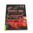 2008 Ferrari Yearbook signed by Schumacher, Raikkonen, Massa, Ferrari and DiMontmezemelo