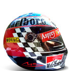 1998 Japan Chrome Schumacher Replica Helmet