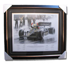 Ayrton Senna Birth of a Legend Signed Print