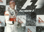 Jenson Button Signed Photograph winning in Australia