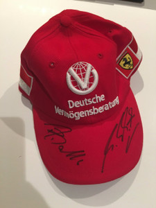 Michael Schumacher Year 2000 personal cap signed