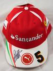 Sebastian Vettel Signed 2017 Ferrari Drivers Cap