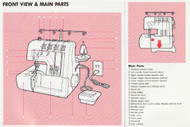 Elna 624DSE 614DE 604E Overlocker  instruction manual