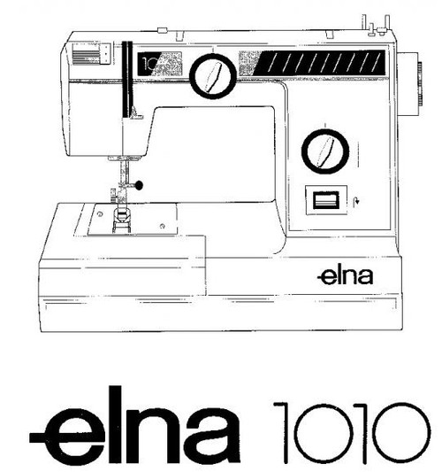 Elna 1010 Sewing machine instruction manual