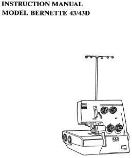 Bernette Serger_43_43D Overlocker PDF instruction manual