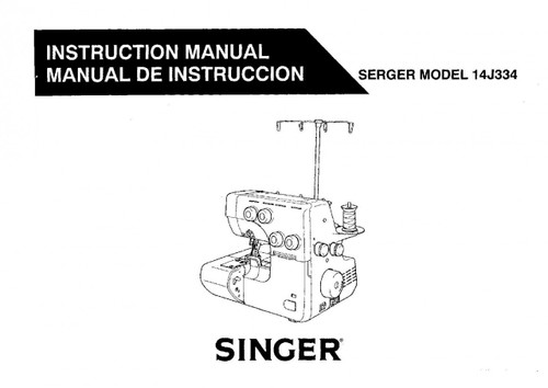 Singer 14J334 and Globe M28 Instruction Manual