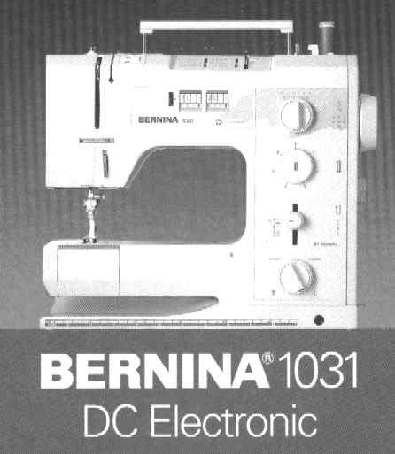 Bernina 1031 DC Sewing machine PDF instruction manual in  English