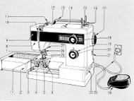 Elna 410 450 Sewing machine instruction manual