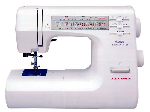 Janome decor excel 5124 sewing machine pdf instruction manual for Decor excel 5018