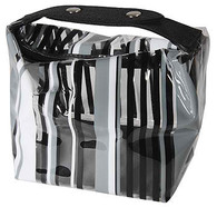 Travel/Cosmetics Bag Grey Stripes